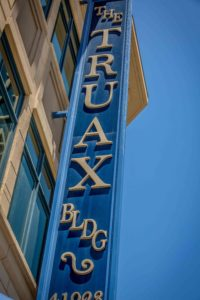 The Truax Building Sign